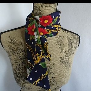 Vintage Women's Floral Neck Scarf
